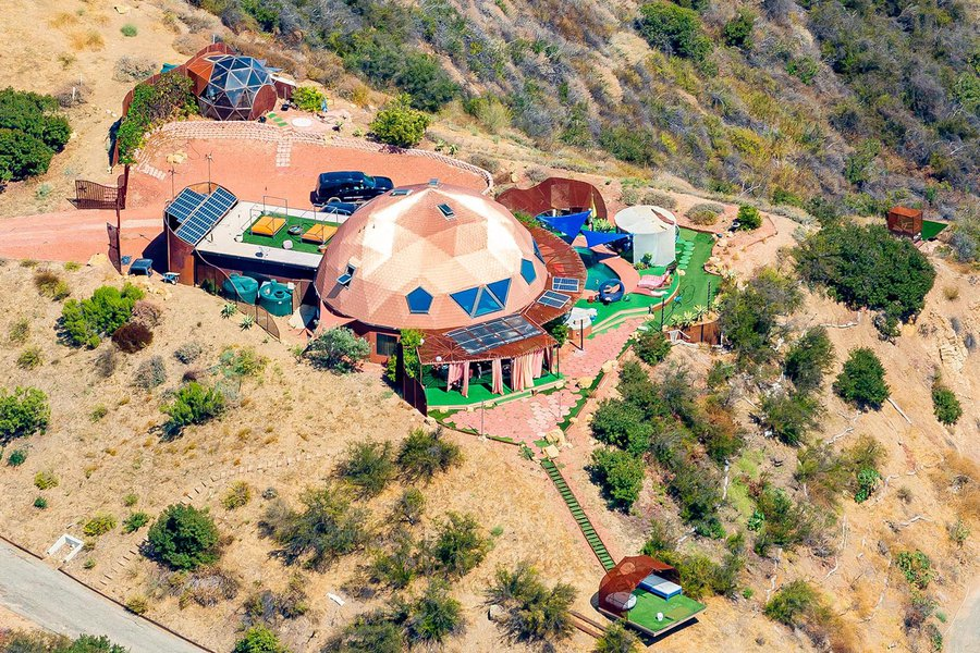 Residential real estate close-up photo of Copper Dome home in Malibu, California