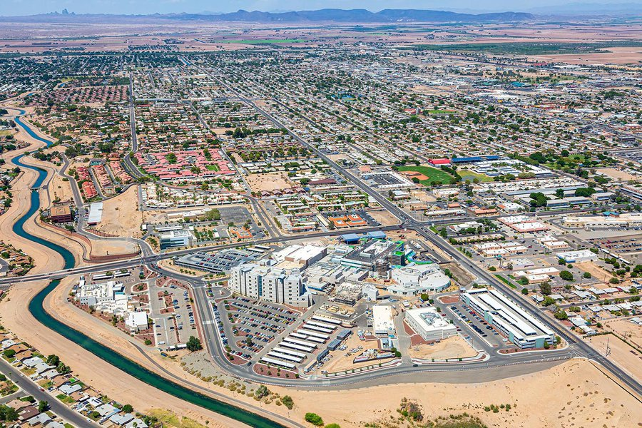 Commercial real estate image of Yuma Regional medical center in Yuma, Arizona