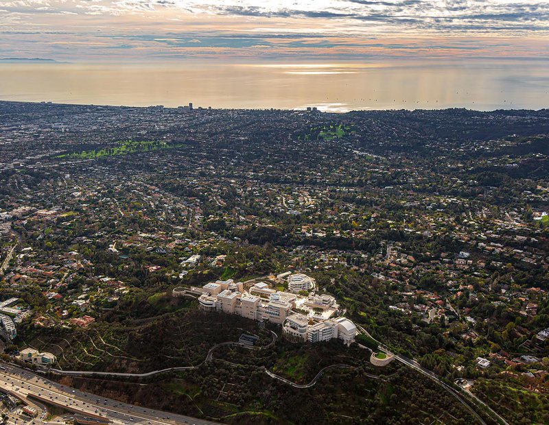 Commercial real estate photo of the Getty Center museum in Los Angeles, California