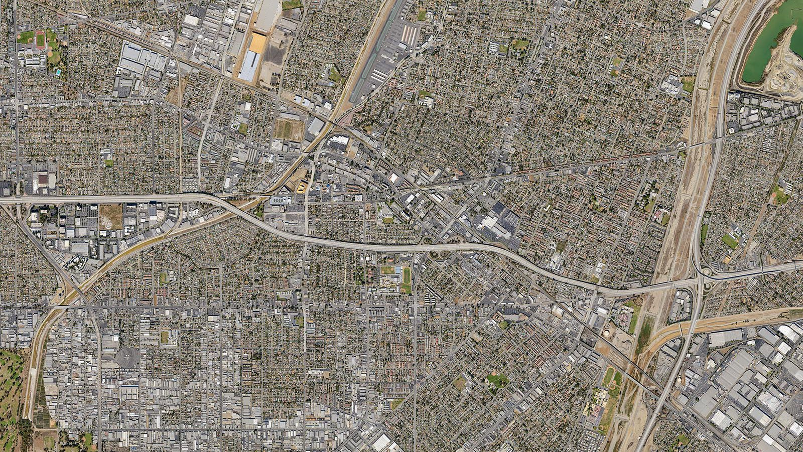 Vertical Map of the City of El Monte, California