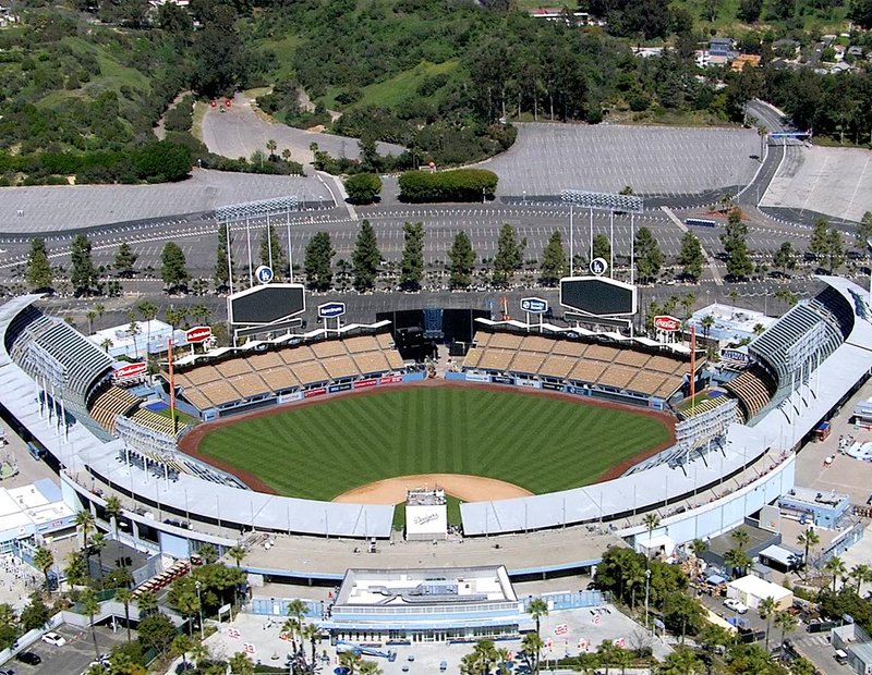 HD Video Still of Dodger Stadium, a baseball stadium in Los Angeles, California