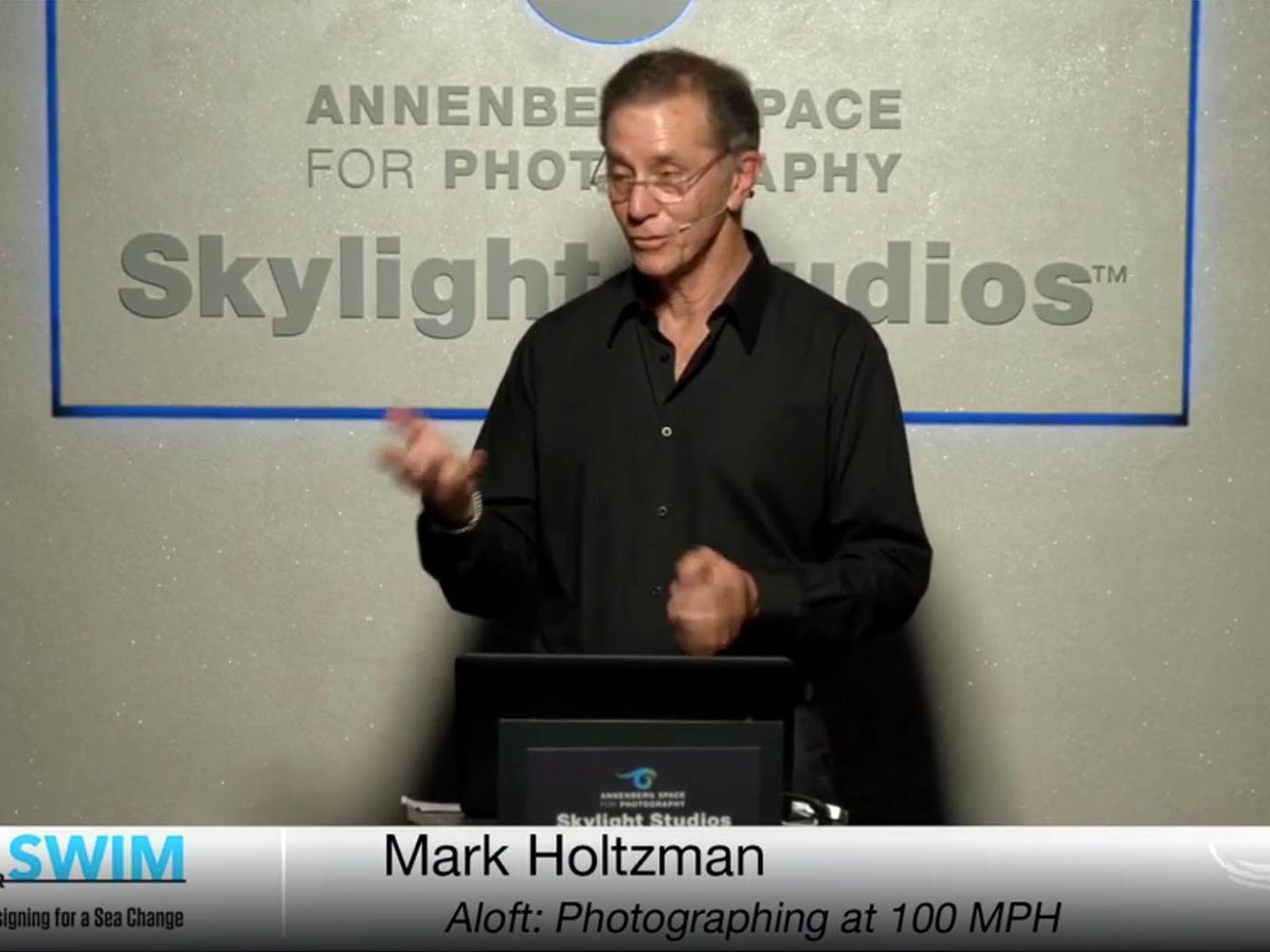 Blog image of Mark Holtzman speaking at Annenberg Space for Photography Iris Nights Lecture
