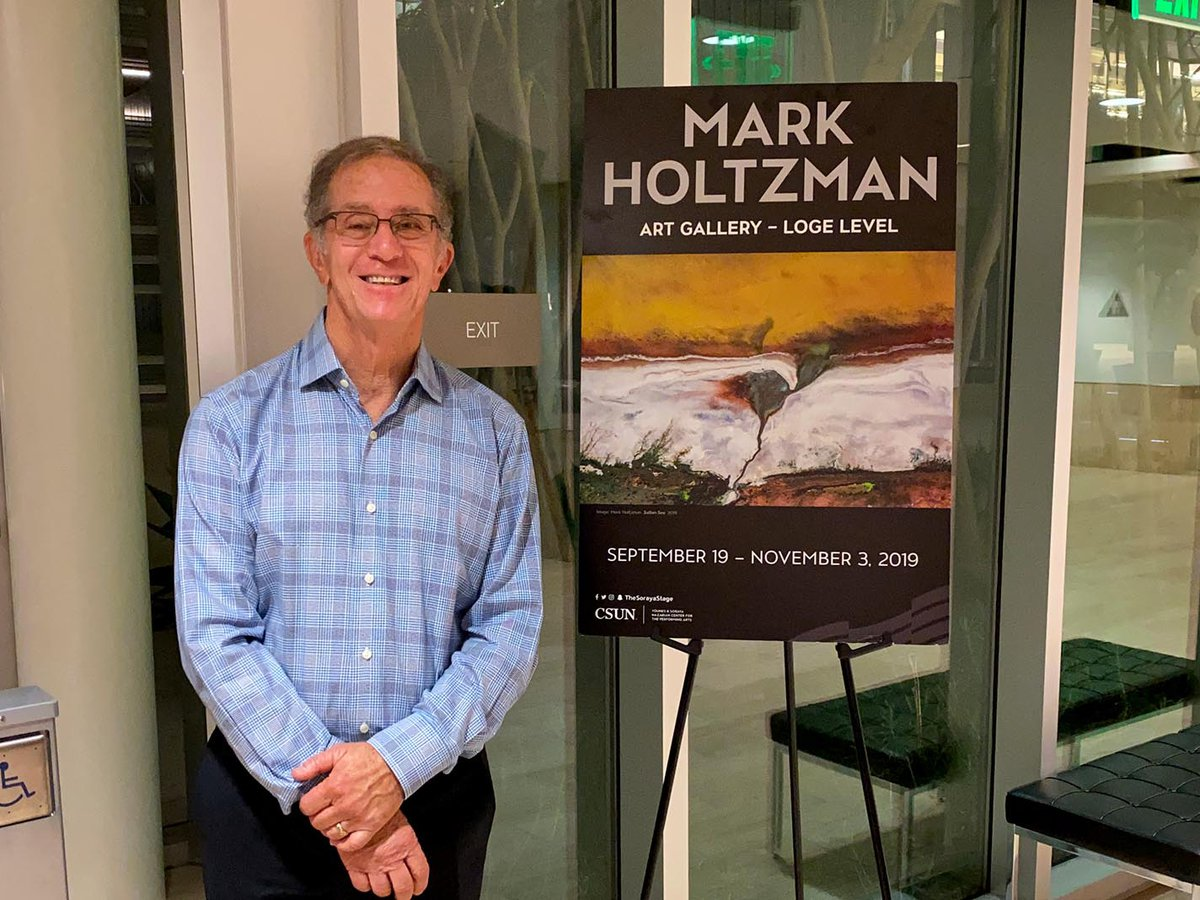 Mark Holtzman at his solo exhibition at the Soraya Art Gallery at CSUN in Northridge, California