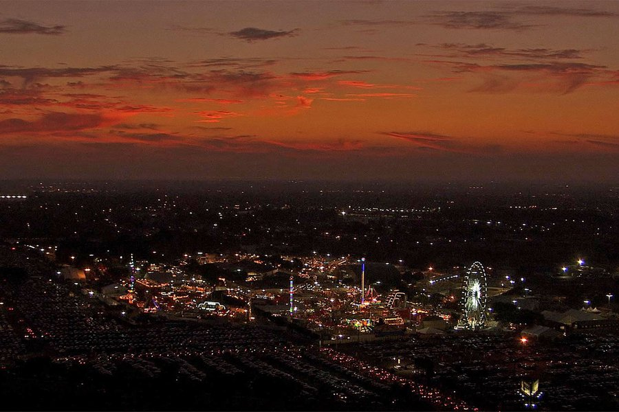HD Aerial Video Still Frame of the Orange County Fair in Costa Mesa, California