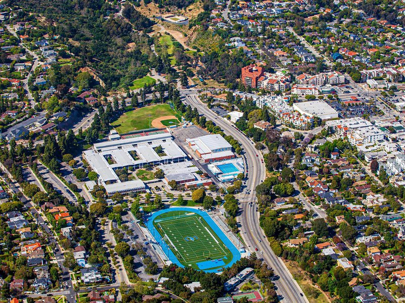 School image of Palisades Charter High School (Pali High) in the Pacific Palisades neighborhood of Los Angeles, California