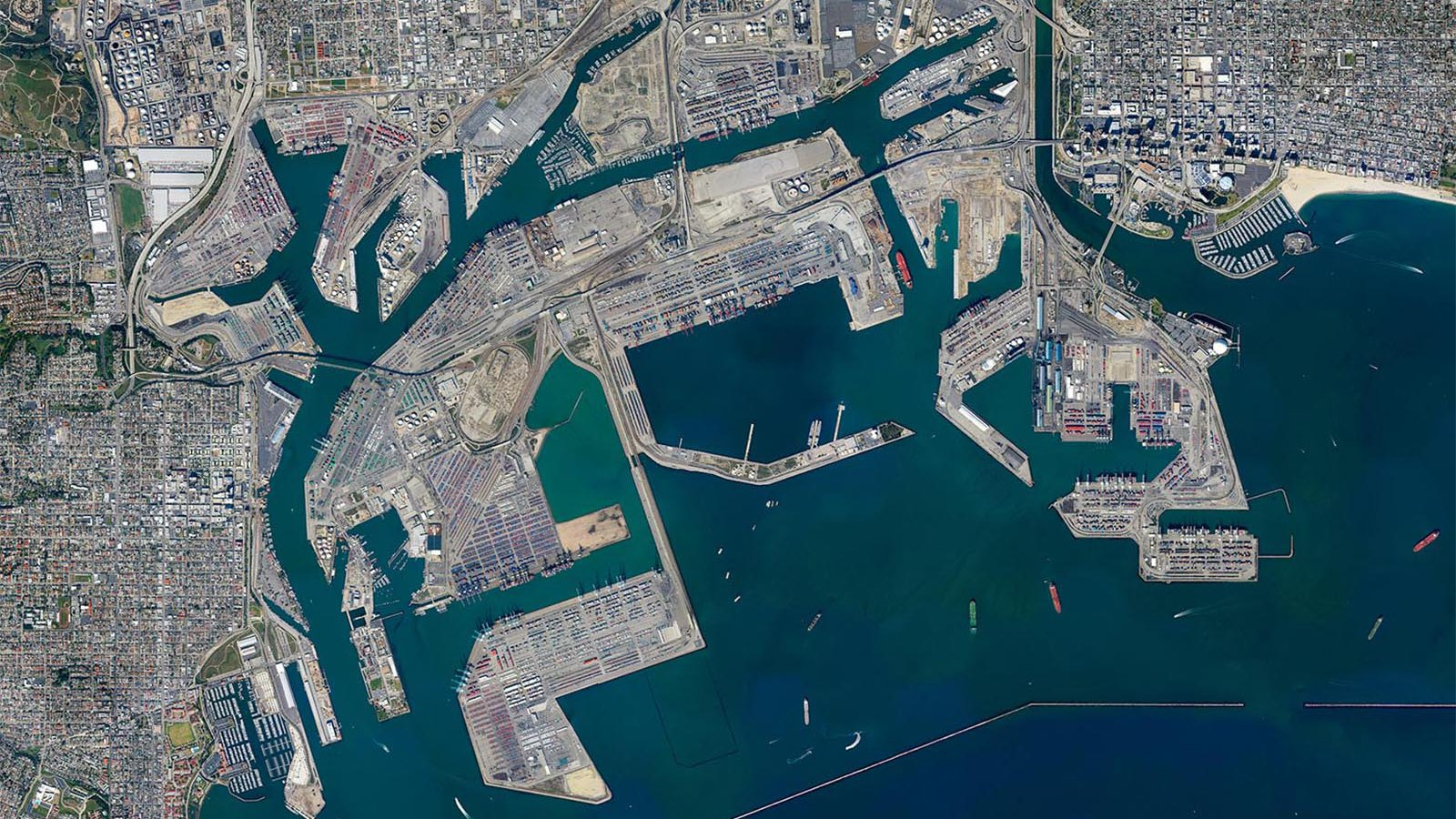 Mapping orthomosaic of the Port of Los Angeles (PoLA) and Port of Long Beach (PoLB)
