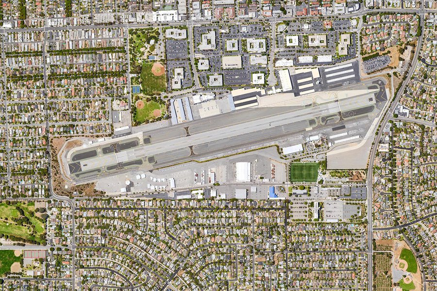 Mapping orthomosaic photo of Santa Monica Airport (KSMO) in Santa Monica, California