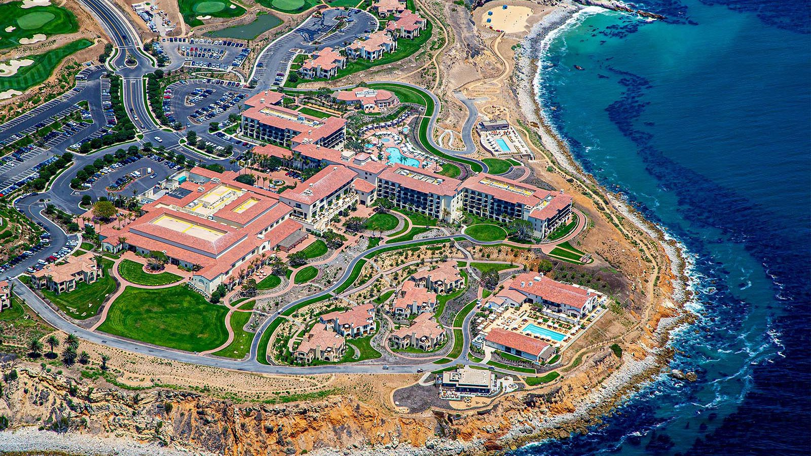 Commercial real estate photograph of the Terranea Resort in Rancho Palos Verdes, California