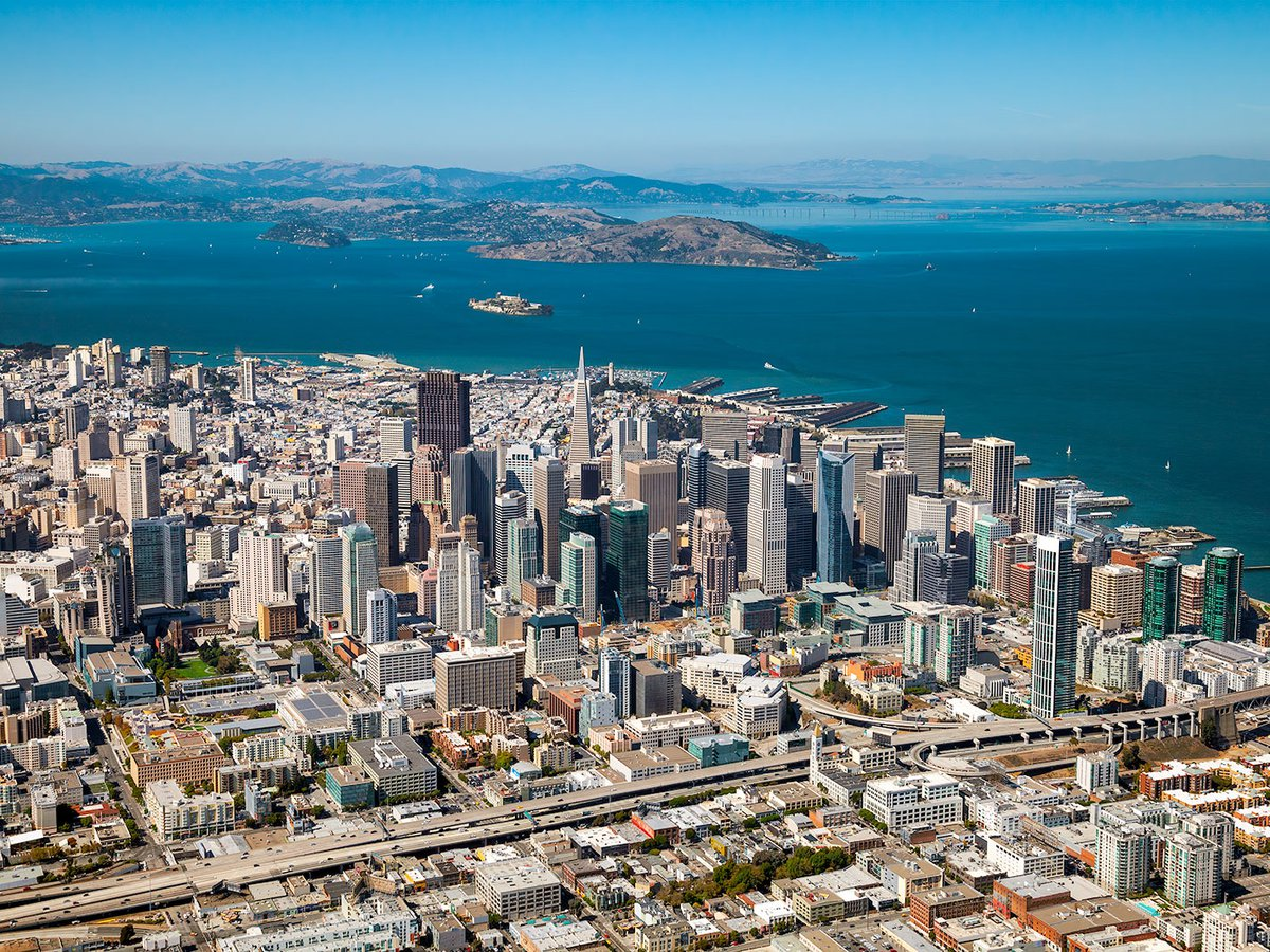 Blog image of the San Francisco skyline with Marin County and Alcatraz Island visible in the background